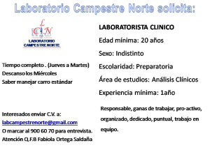 Laboratorista clinico